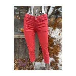 Calvin Klein Jeans Skinny Crop Stretch Mid Rise